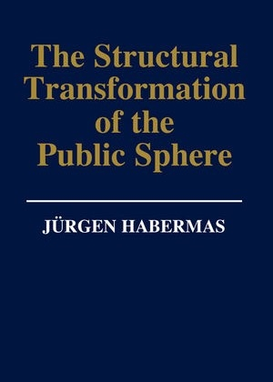 The cover of the first English edition of Public Sphere of Jürgen Habermas, in 1962.