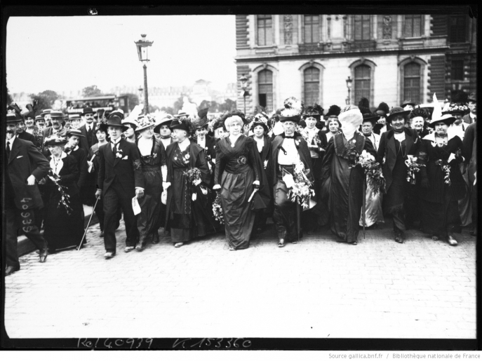 Woman suffrage parade in London, 1914