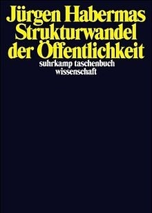 The cover of the first German edition of Public Sphere of Jürgen Habermas, in 1961.