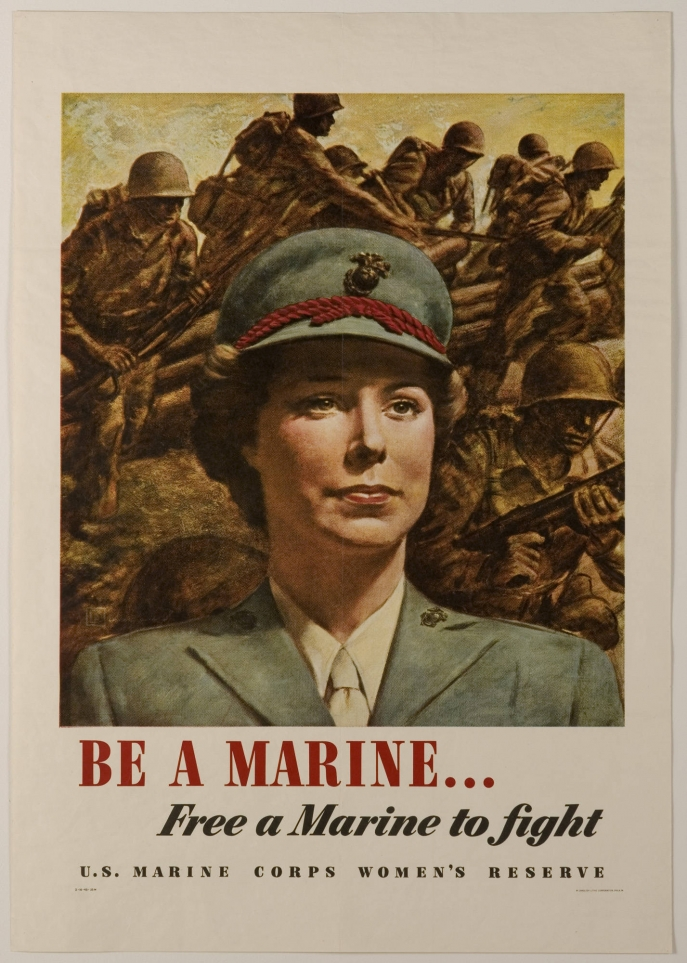 Be a Marine... Free a Marine to Fight (poster, United States, 1943)