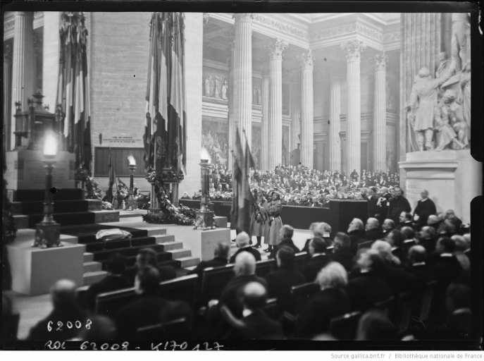 The transfer of the ashes of Jean Jaurès (1924) at the Panthéon.
