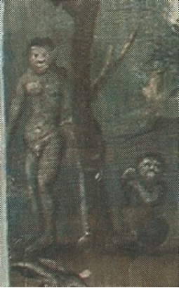 "The figures on the left side of ""White Adam, Black Eve"""